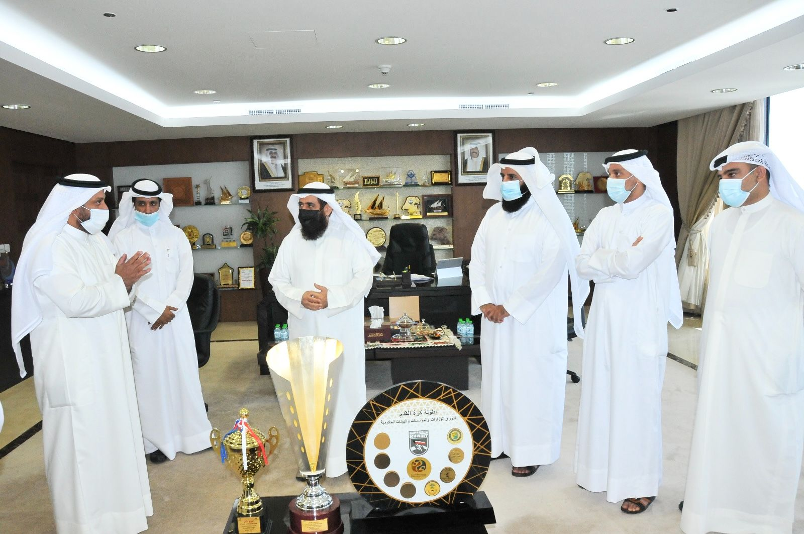 المهندس فريد عمادي هنأ لجنة الأوقاف الرياضية بفوز فريق كرة القدم بدوري الوزارات والهيئات الحكومية
