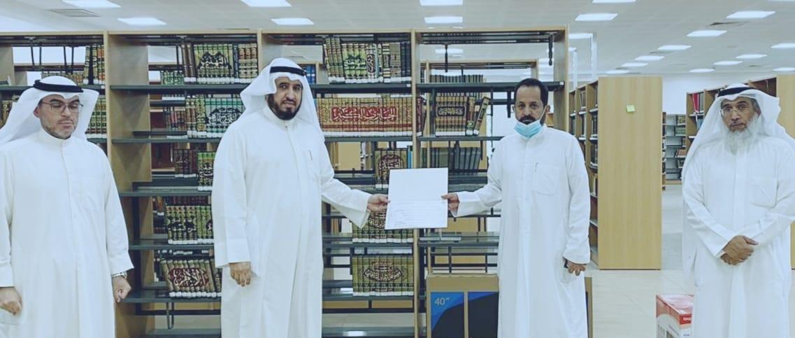 مكتبة الصباحية العامة تكرم الفائزين في مسابقة المكتبة الأولي