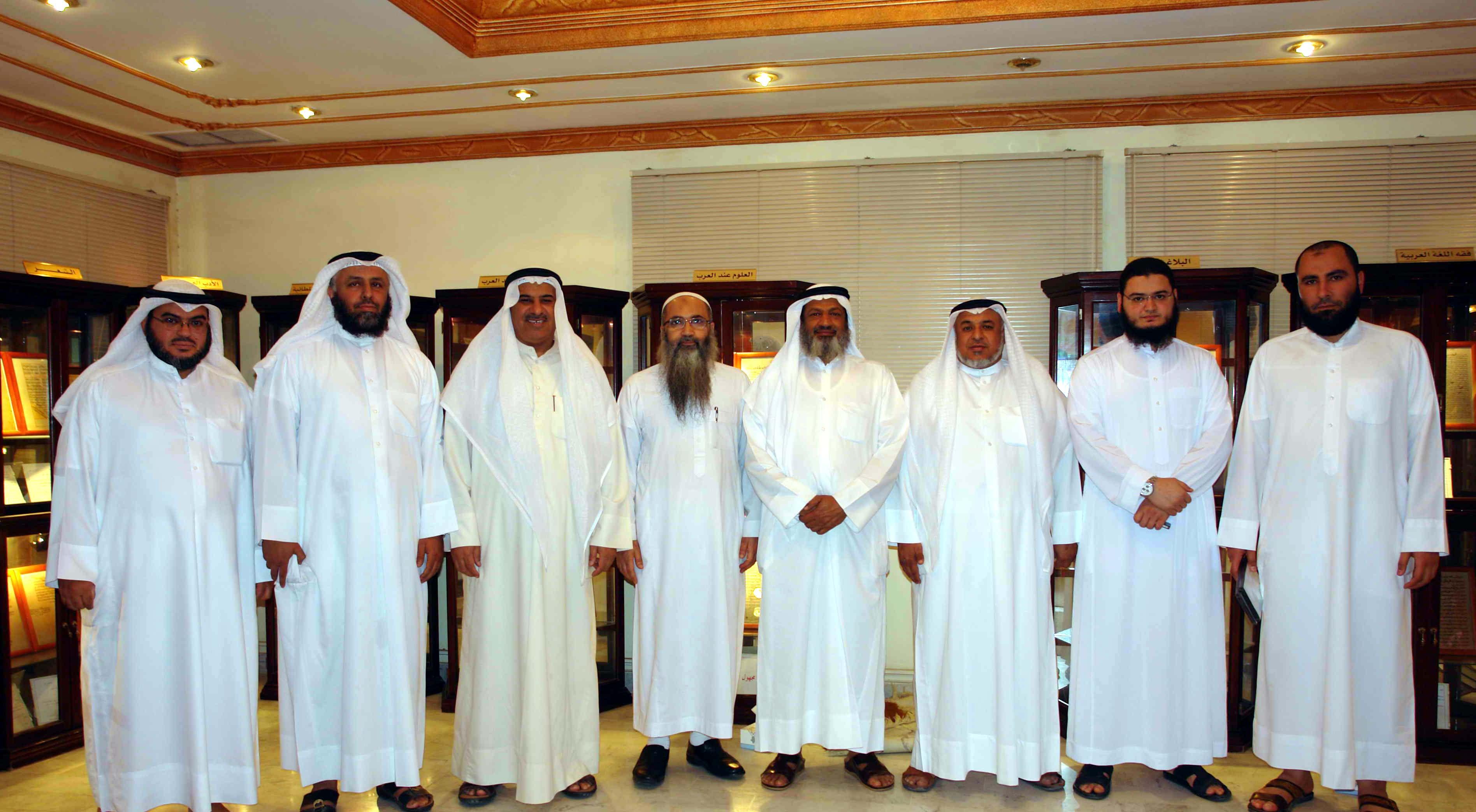 زيارة الشيخ أحمد النقيب لادارة المخطوطات والمكتبات